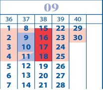 koledar september
