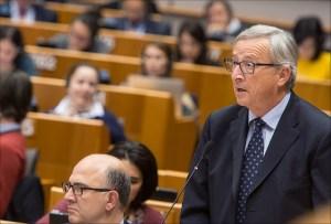 Junckerjev nastop pred Parlamentom (Vir: (c) Evropska unija 2014 - Evropski parlament)