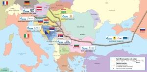 Potek Južnega toka (Vir. gazprom.com)