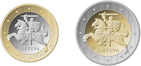 National motive on Lithuanian Euro coins. © Bank of Lithuania, 2014