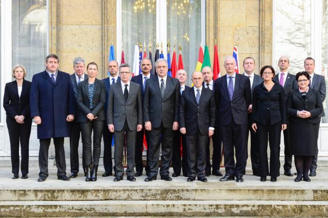 Srečanje nekaterih ministrov za notranje zadeve EU ob robu republikanskega zborovanja 11. januarja v Parizu (Vir: (c) Evropska unija 2015 - Evropska komisija)